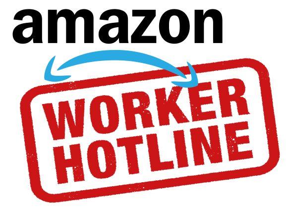 Amazon worker hotline logo