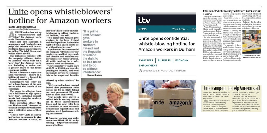 Action on Amazon news