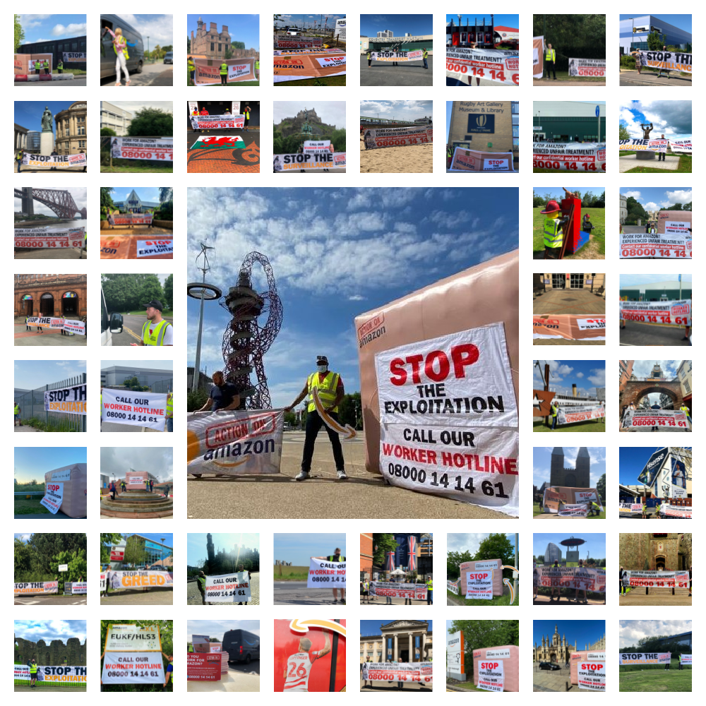 collage of action on amazon demonstrations